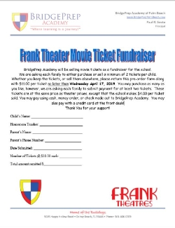 Franks Theater Tickets Fundraiser Starts TOMORROW!!!!!!